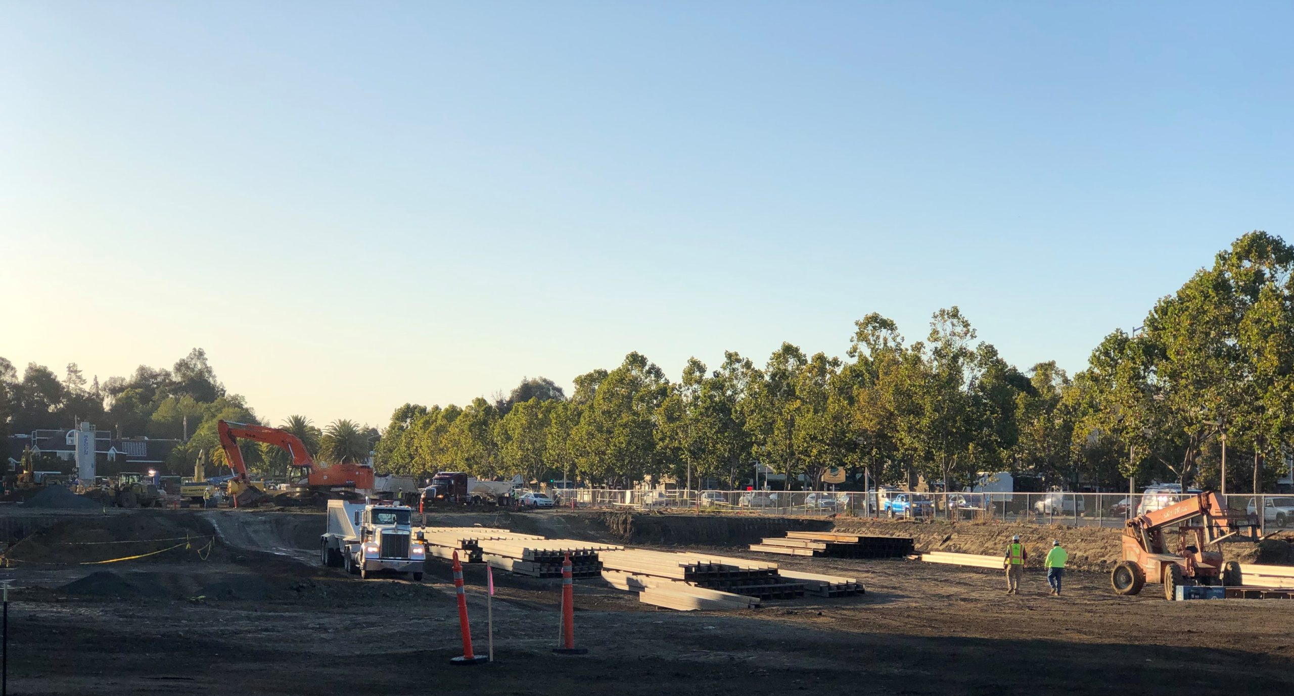 Construction Begins at Middle Plaza - Fall 2019