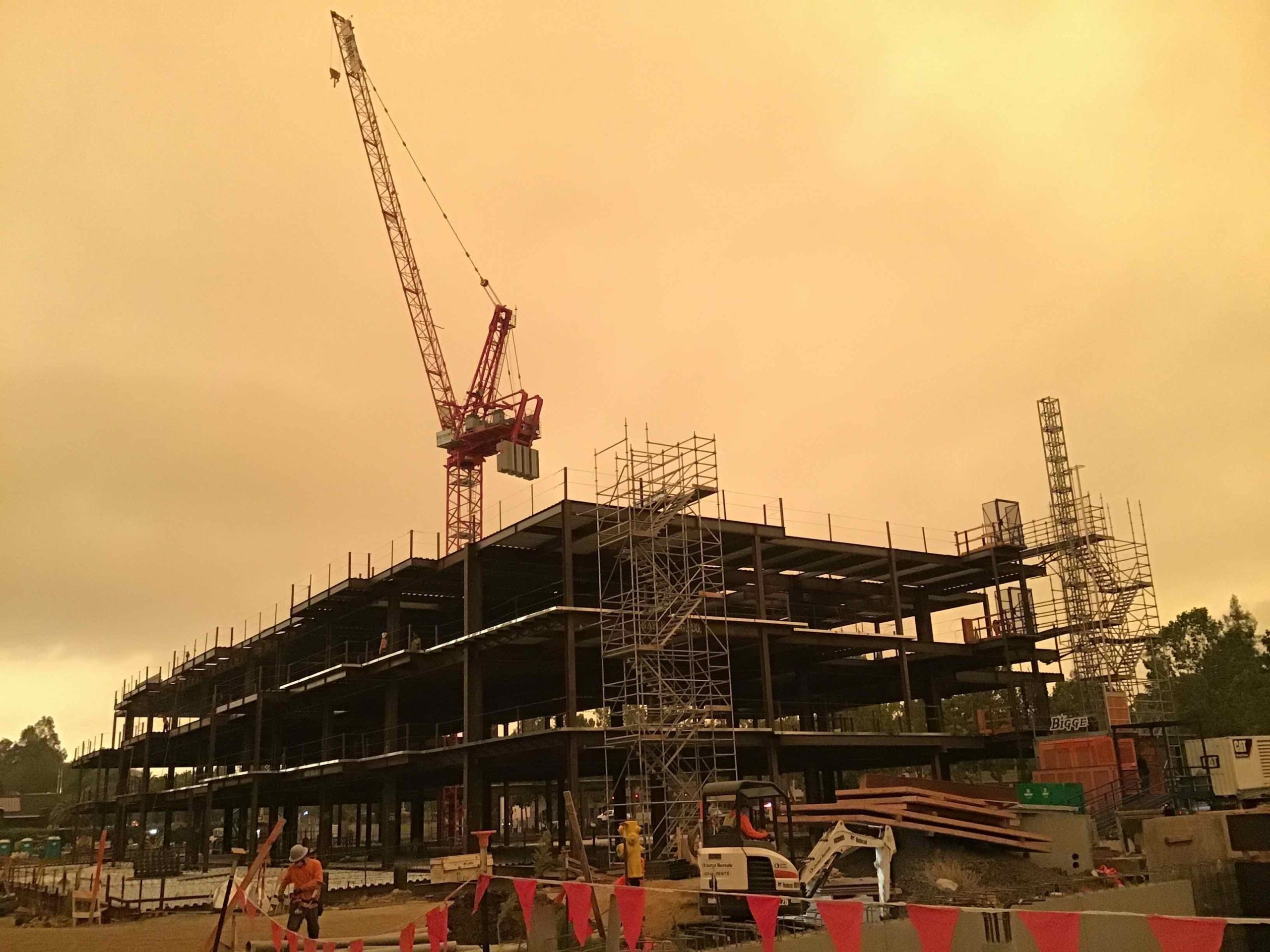 Office Building 2 Steel Structure and Crane