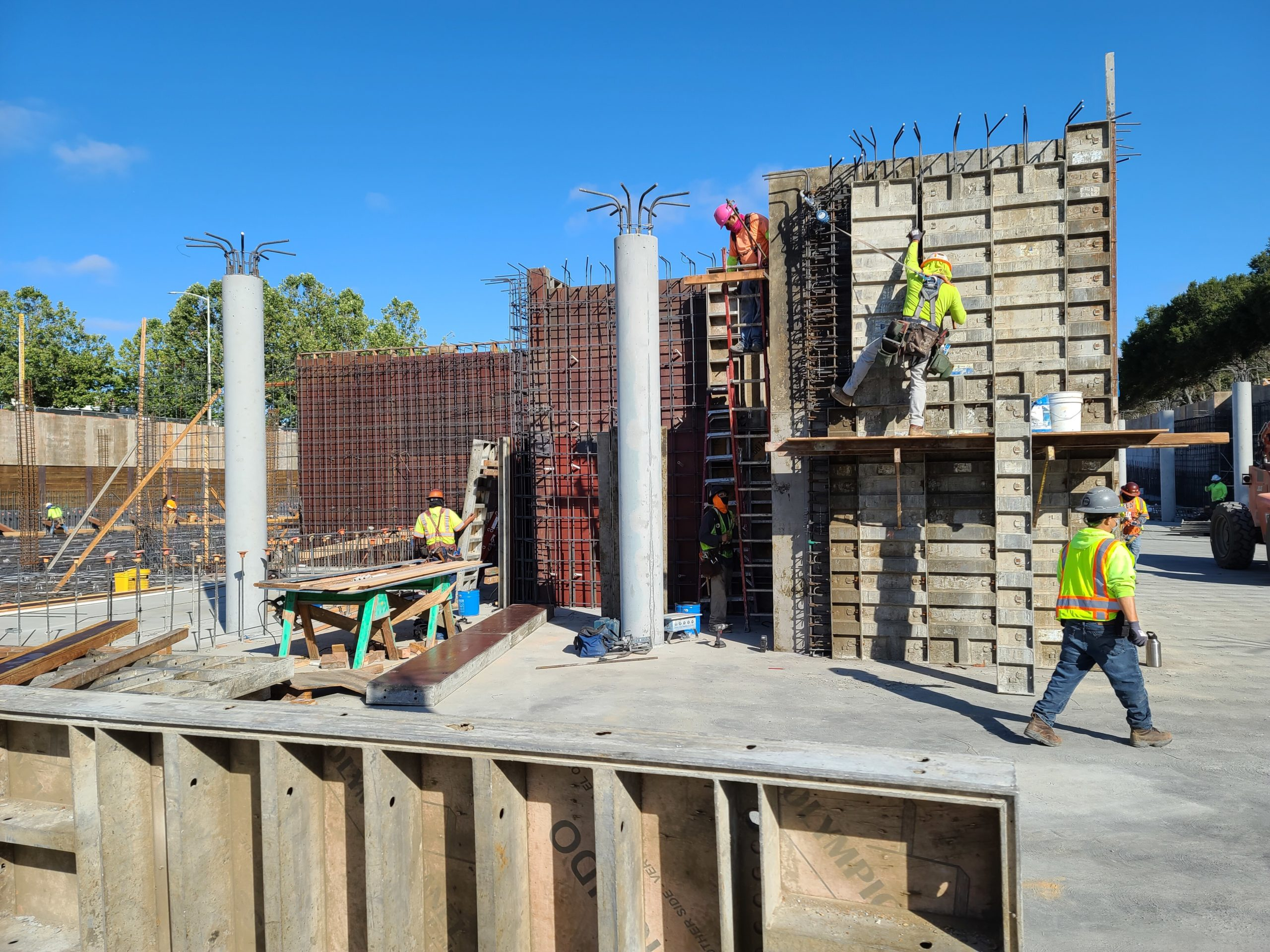 Stairway and Elevator Shaft Form Work – July 2020