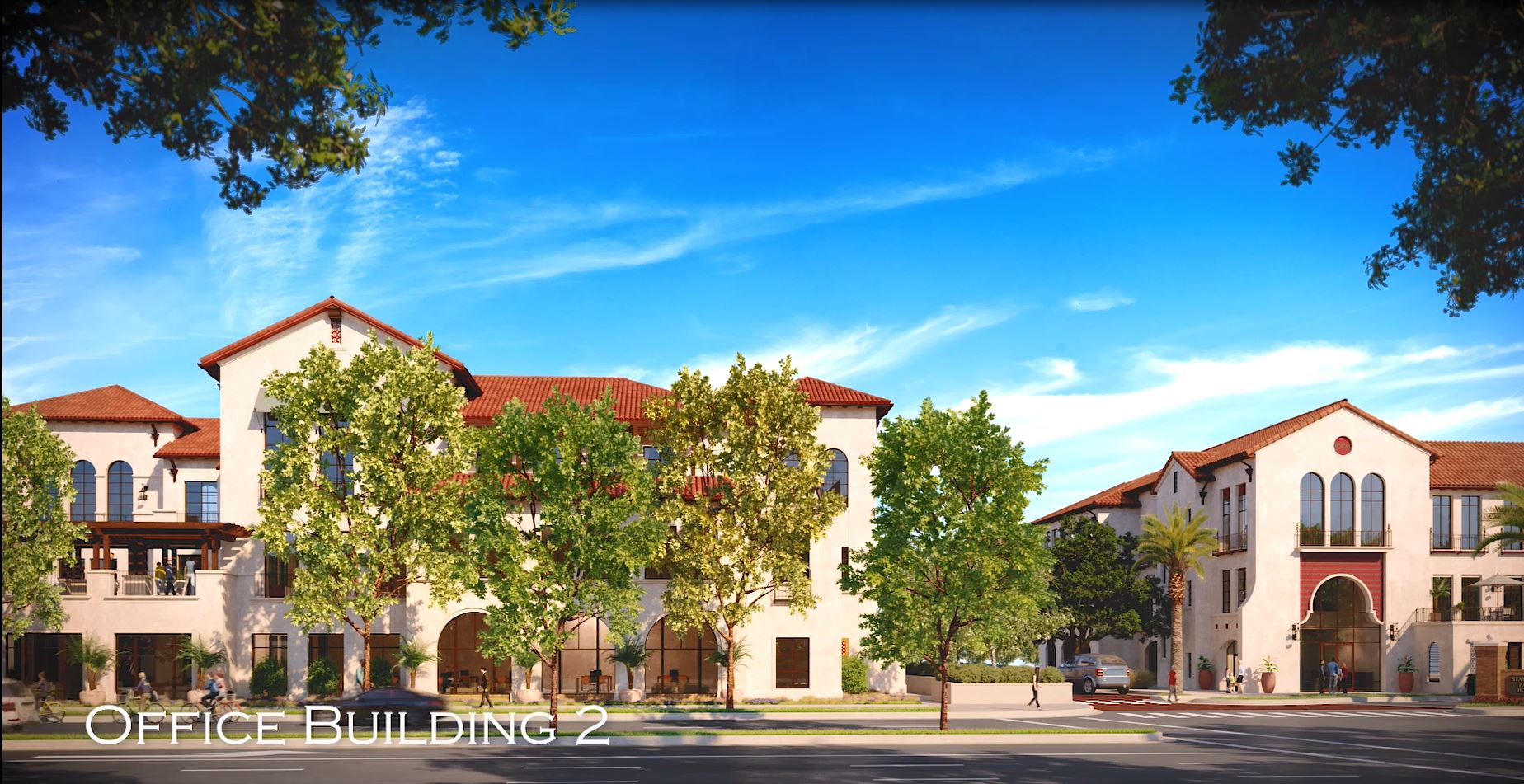Rendering of Panoramic View of Office Building 2