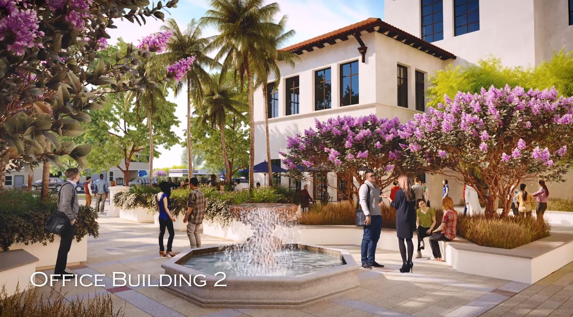 Rendering of On-Site View of Office Building 2 Square
