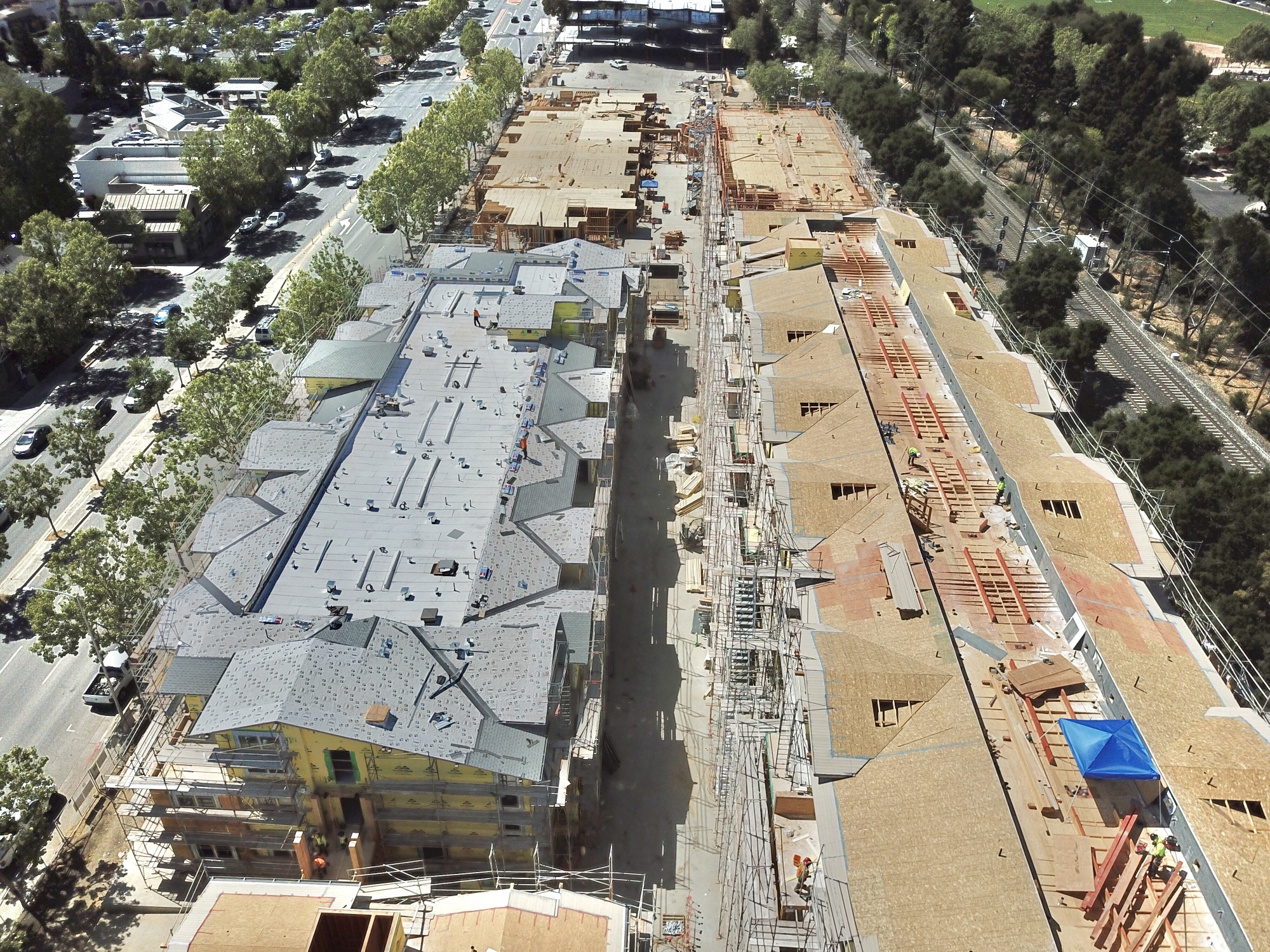 Aerial View of Construction Site – May 2021