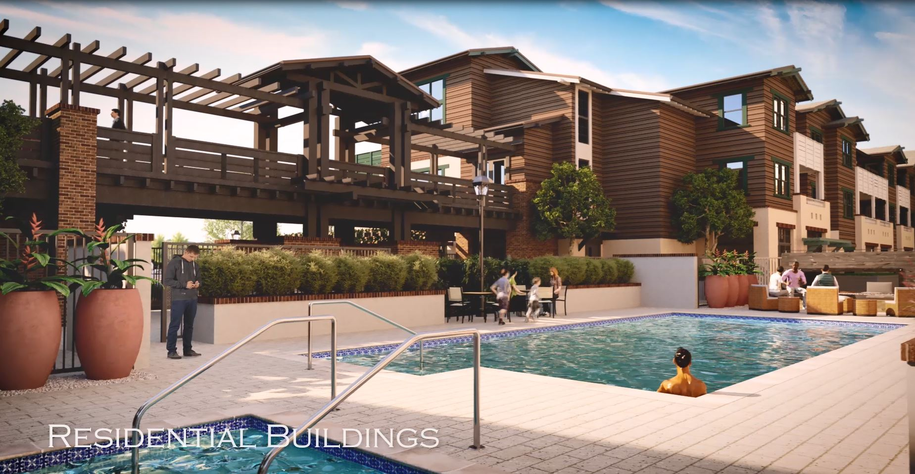 Rendering of Ground View of Leisure Area