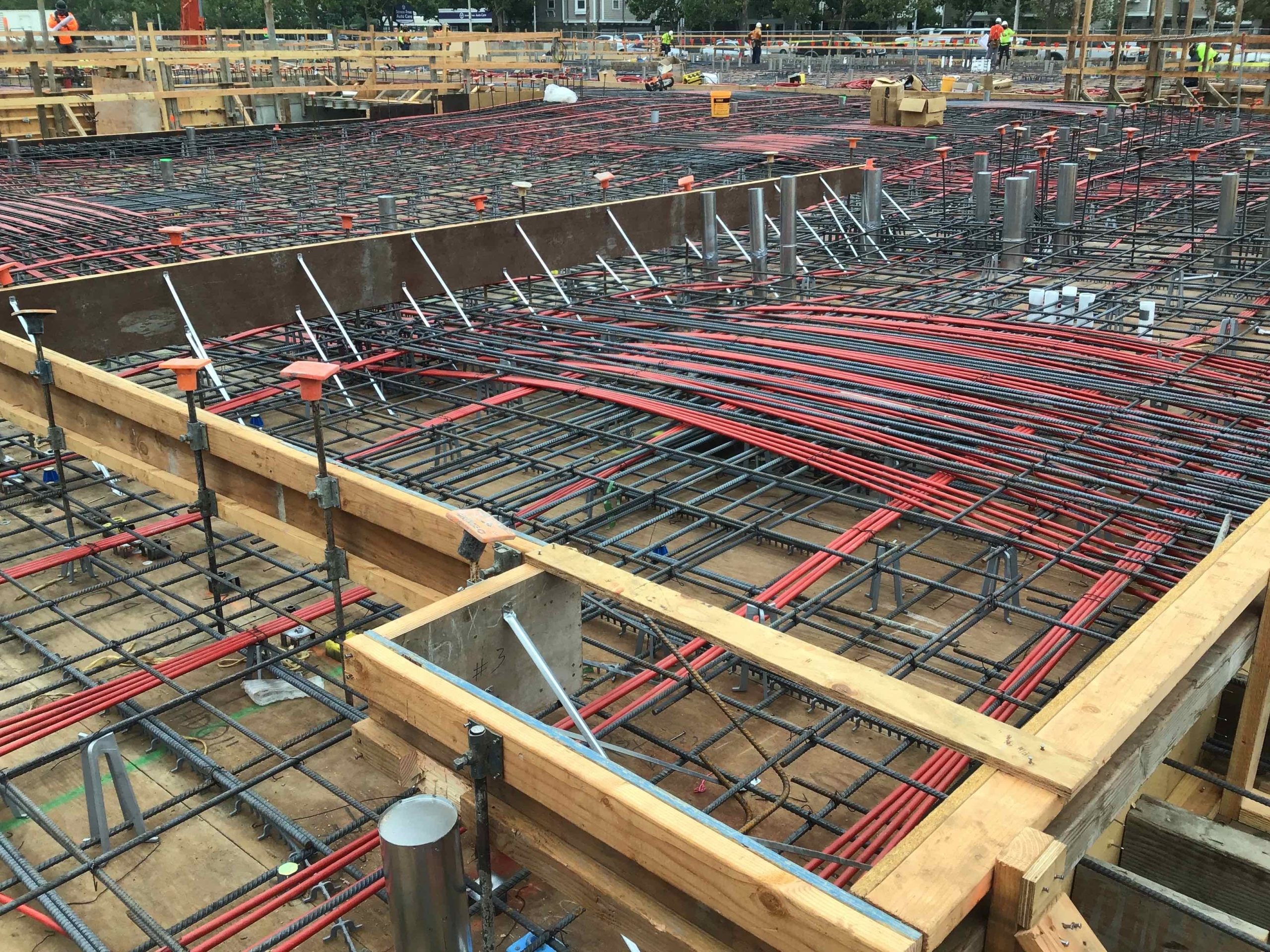 Rebar and Post Tension on Podium Area 2 - August 2020