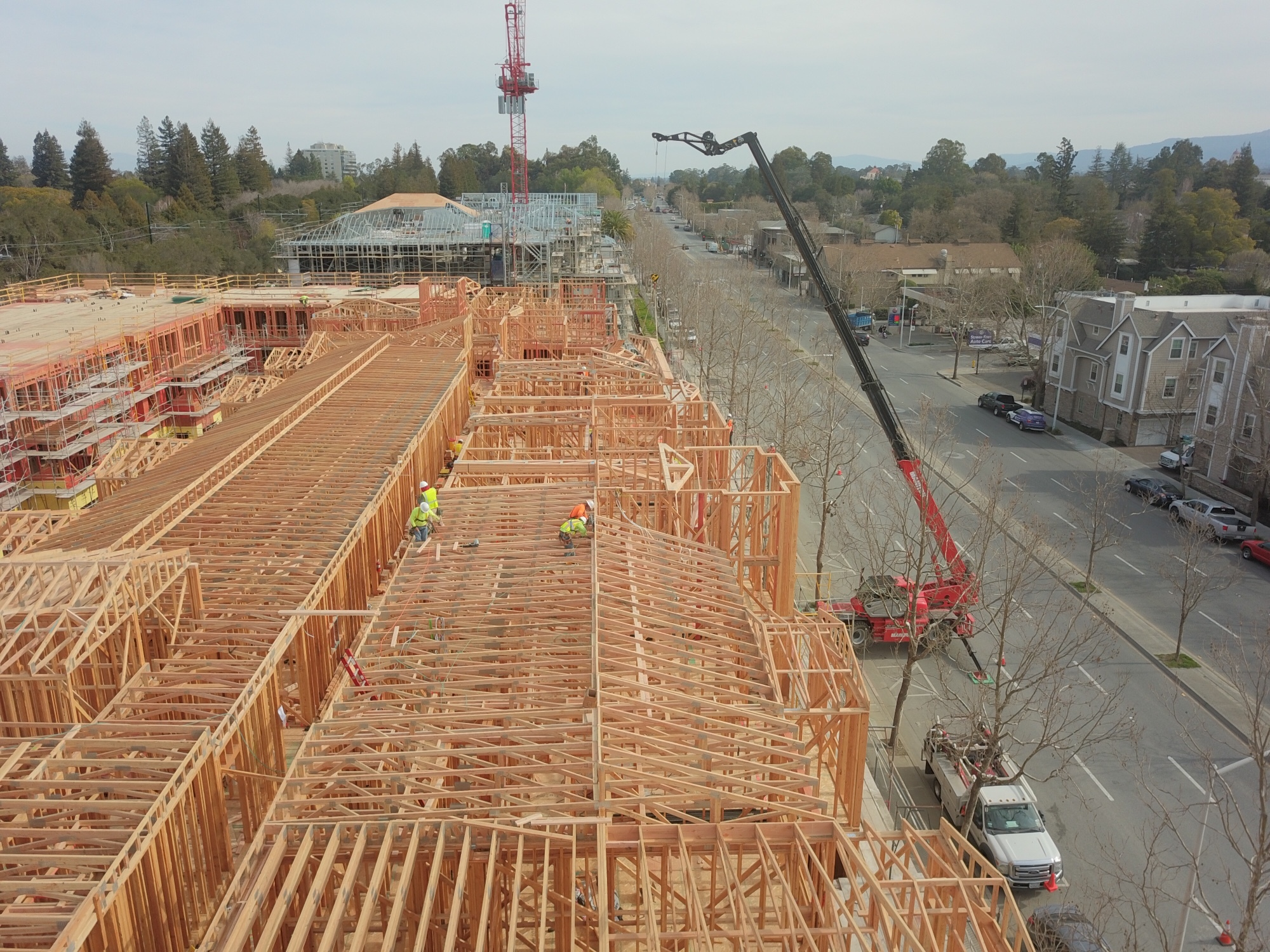 Installation of Building C Roof Trusses – March 2021
