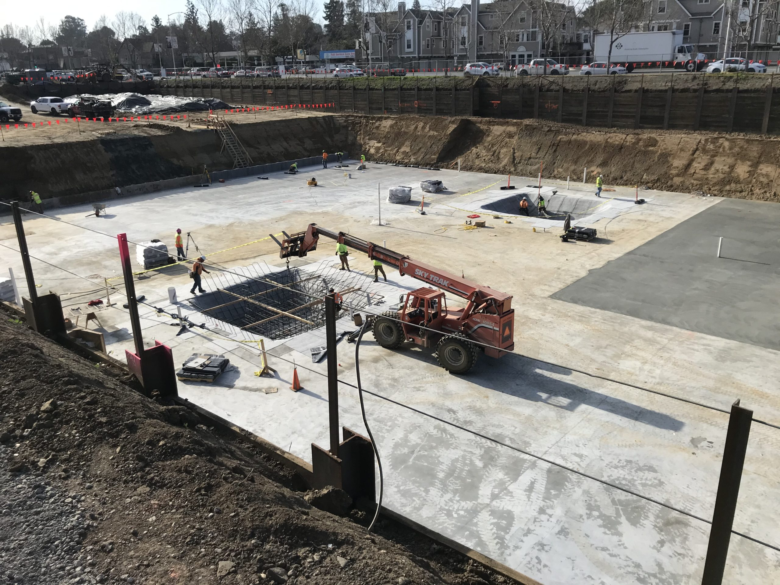 Concrete Foundations Work Continues - Winter 2020