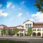 Rendering of Office building #2 as seen from El Camino Real
