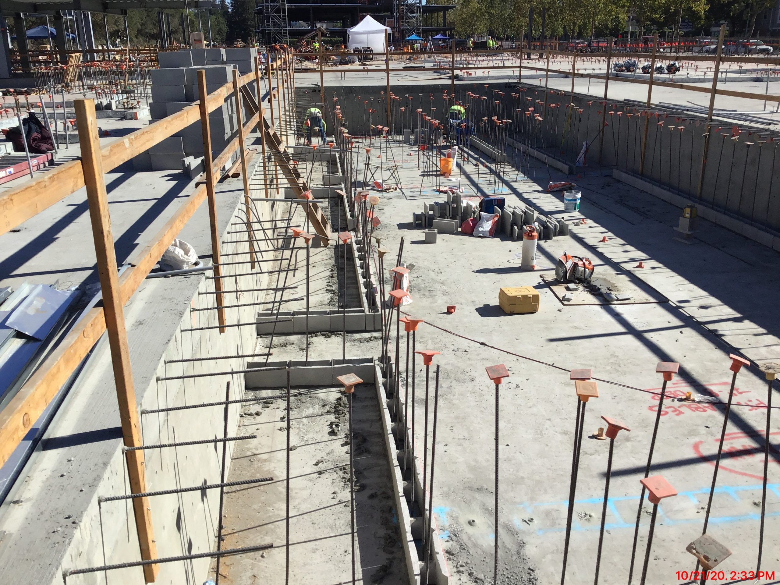 Pool Foundations Layout  – October 2020